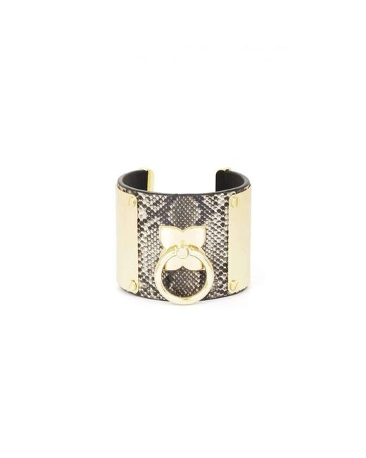 BCBGMAXAZRIA - Metallic Bcbg Maxazria Icon Ring Cuff Bracelet - Lyst