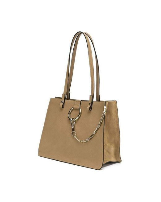 ed10cdd288 ... Chloé - Natural Faye Beige Leather Tote - Lyst ...