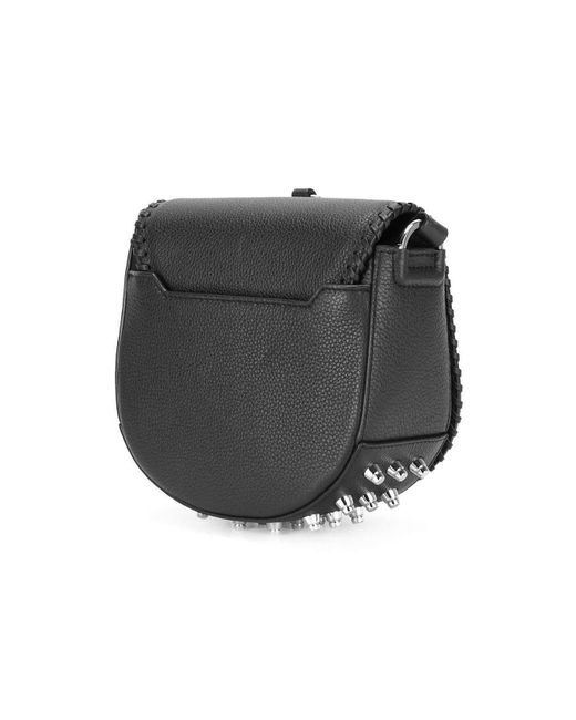d748c27b0 ... Alexander Wang - Black Leather Lia Sling Crossbody Bag - Lyst ...