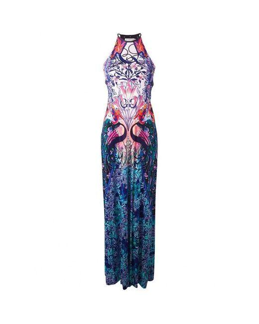 Mary Katrantzou - Blue 'siren' Jersey Maxi Dress - Lyst