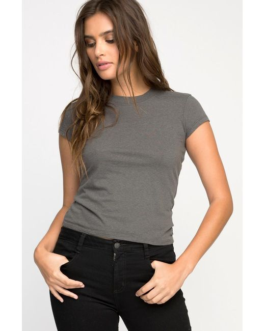RVCA - Gray Label Baby T-shirt - Lyst