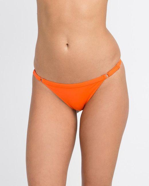 9e2d7082db Lyst - RVCA Solid Basic Isle Skimpy Bikini Bottom in Orange - Save 31%