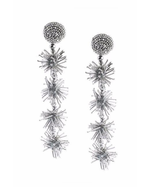 Sachin & Babi - Metallic Sparklers Earrings - Silver - Lyst