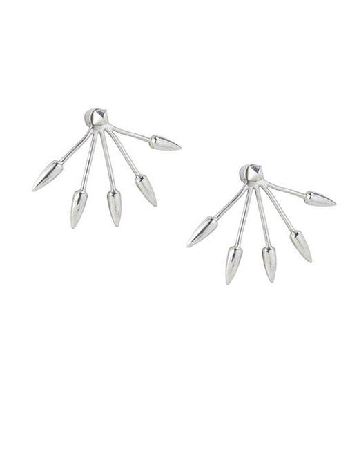 Pamela Love | Metallic Five Spike Earrings | Lyst