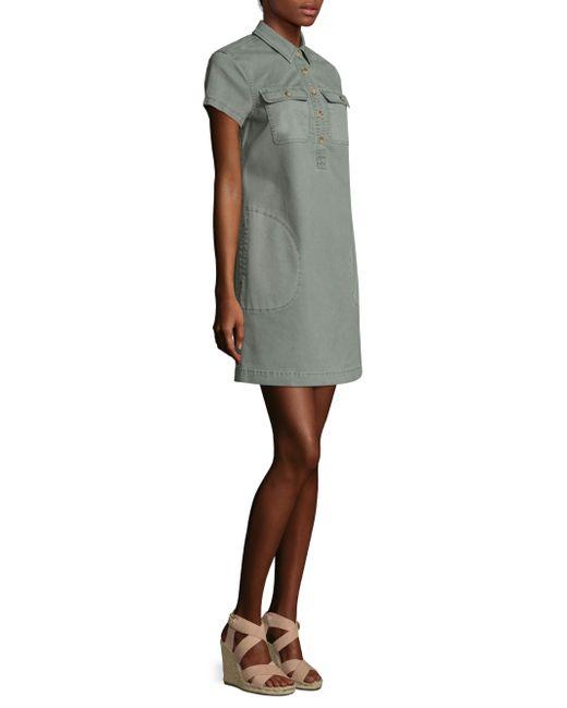 Vineyard vines stretch utility shirt dress lyst for How to stretch a dress shirt