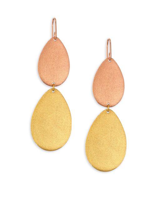 Stephanie Kantis - Metallic Dew Drop Two-tone Double-drop Earrings - Lyst