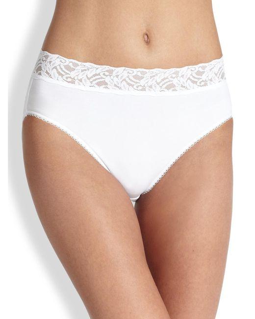 Wacoal - White Cotton High-cut Brief - Lyst