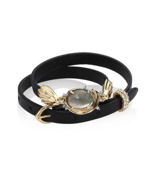 Alexis Bittar   Black Elements Golden Array Adjustable Wrap Bracelet/choker   Lyst