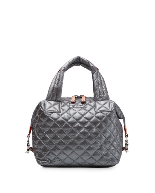 MZ Wallace - Gray Classic Quilted Shoulder Bag - Lyst
