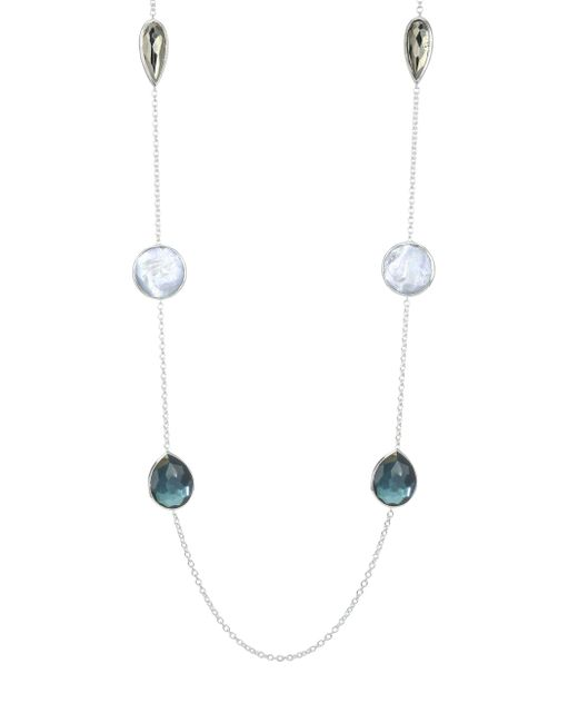 Ippolita - Metallic 925 Wonderland Large Multi-stone & Sterling Silver Station Necklace - Lyst