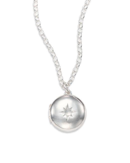 Astley Clarke - Metallic Moonstone & Sterling Silver Little Astley Locket Necklace - Lyst