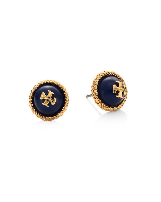 Tory Burch   Blue Rope Faux-pearl Stud Earrings   Lyst
