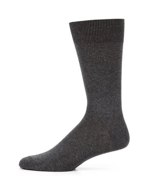 Saks Fifth Avenue   Gray Cotton-blend Dress Socks for Men   Lyst
