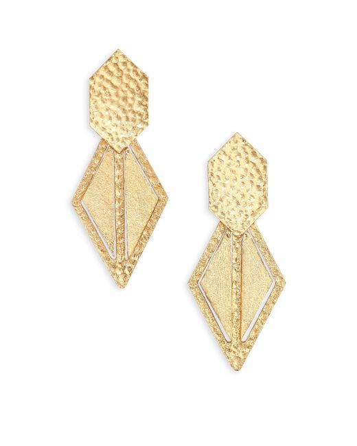 Stephanie Kantis | Metallic Momentum Geometric Drop Earrings | Lyst