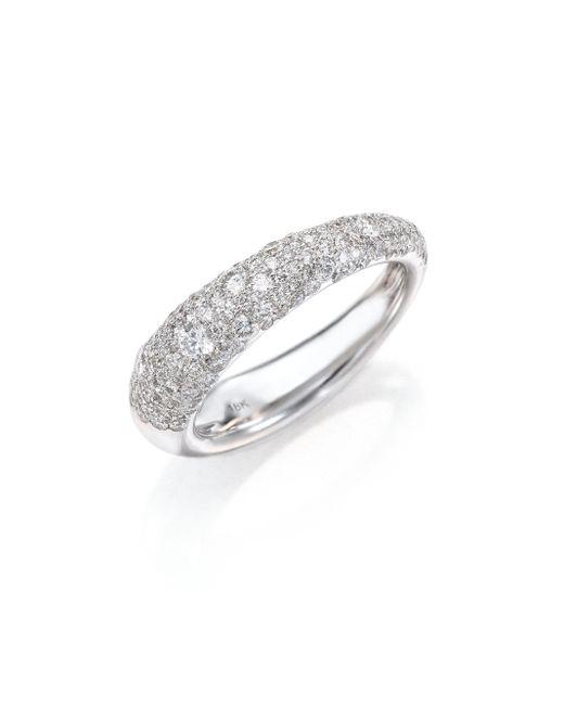 Kwiat   Metallic Cobblestone Diamond & 18k White Gold Band Ring   Lyst