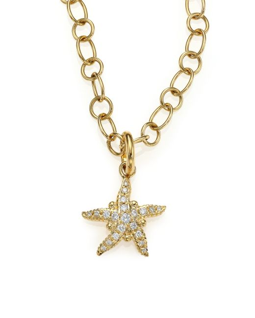 Temple St. Clair | Metallic Tree Of Life Diamond & 18k Yellow Gold Sea Star Pendant | Lyst