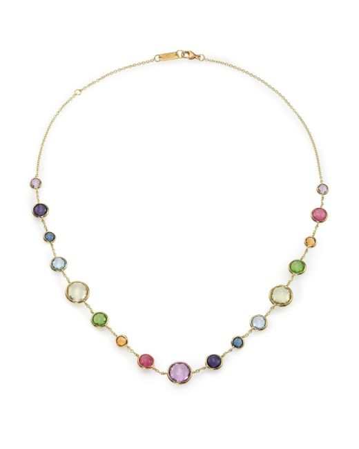 Ippolita | Metallic Rock Candy Rainbow Semi-precious Multi-stone & 18k Yellow Gold Lollitini Short Station Necklace | Lyst
