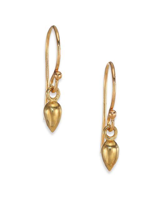 Zoe Chicco | Metallic 14k Yellow Gold Short Bullet Drop Earrings | Lyst