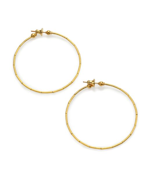 Gurhan | Metallic Rain 24k Yellow Gold Hoop Earrings/2 | Lyst