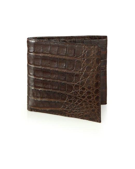 Santiago Gonzalez | Brown Crocodile Billfold Wallet for Men | Lyst