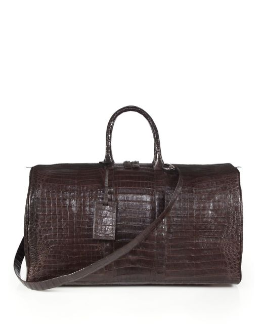 Santiago Gonzalez | Brown Crocodile Weekender Bag | Lyst
