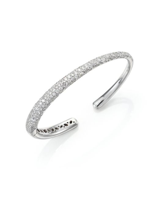 Kwiat | Metallic Cobblestone Diamond & 18k White Gold Cuff Bracelet | Lyst