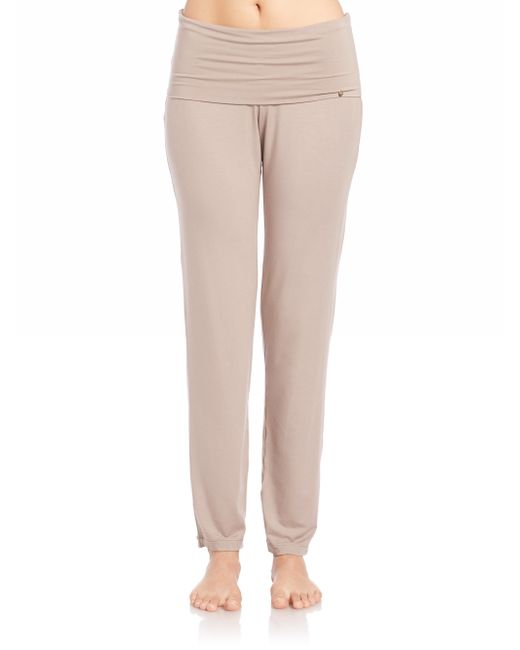 Hanro | Brown Yoga Lounge Pants | Lyst