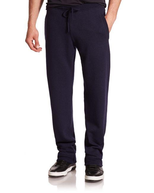 Ferragamo | Blue Cashmere Jogger Pants for Men | Lyst