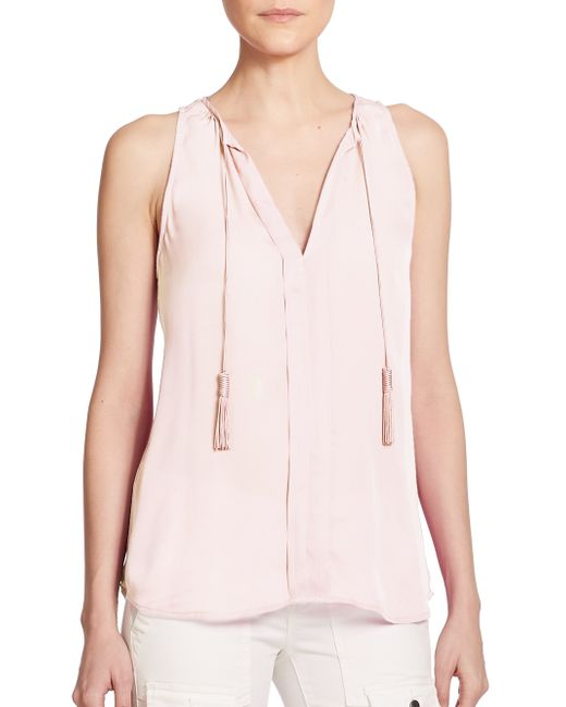 Joie | White Airlan Silk Sleeveless Top | Lyst