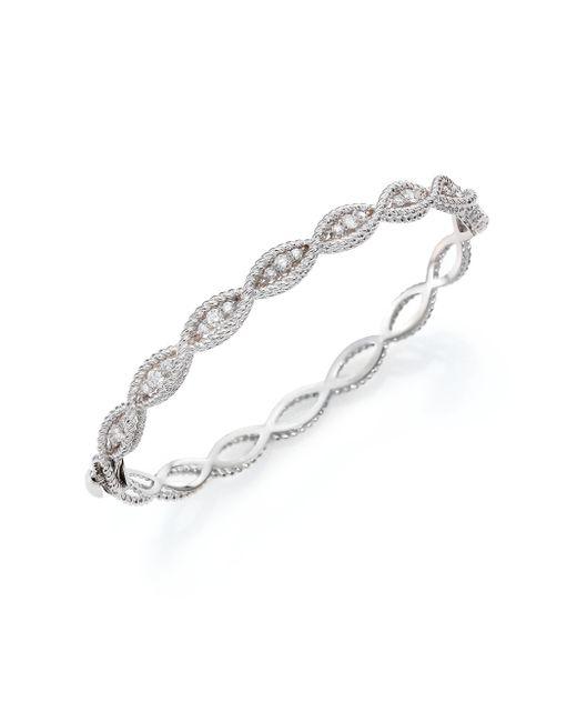 Roberto Coin | Barocco Diamond & 18k White Gold Braided Bangle Bracelet | Lyst