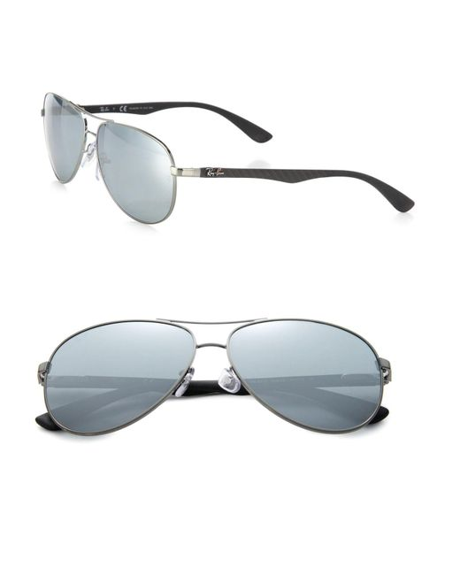Ray-Ban | Metallic Pilot 61mm Mirrored Sunglasses for Men | Lyst