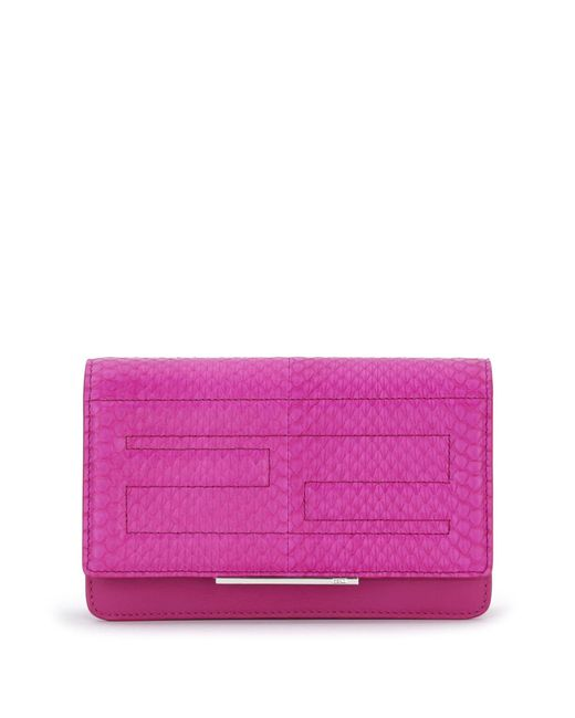 Fendi | Purple Tube Elaphe & Leather Chain Wallet | Lyst