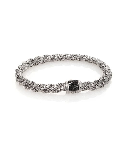 John Hardy | Metallic Classic Chain Black Sapphire & Sterling Silver Extra-small Twisted Bracelet | Lyst