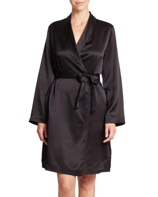 La Perla | Black Silk Robe | Lyst