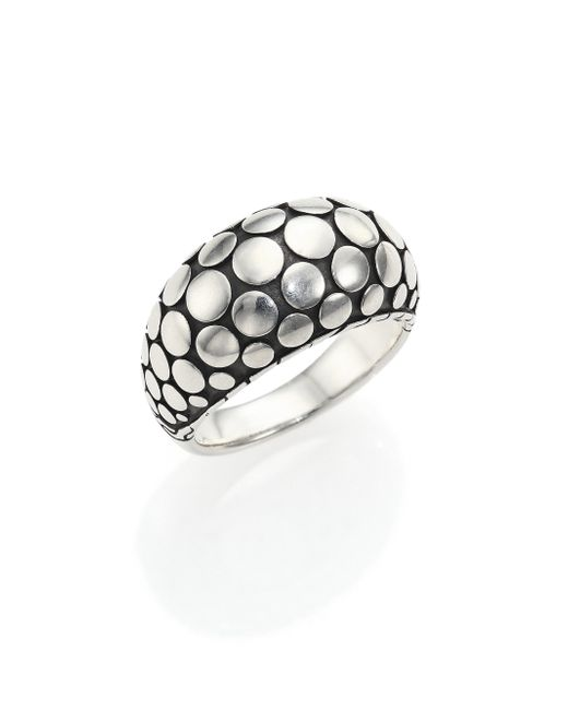 John Hardy | Metallic Dot Sterling Silver Dome Ring | Lyst