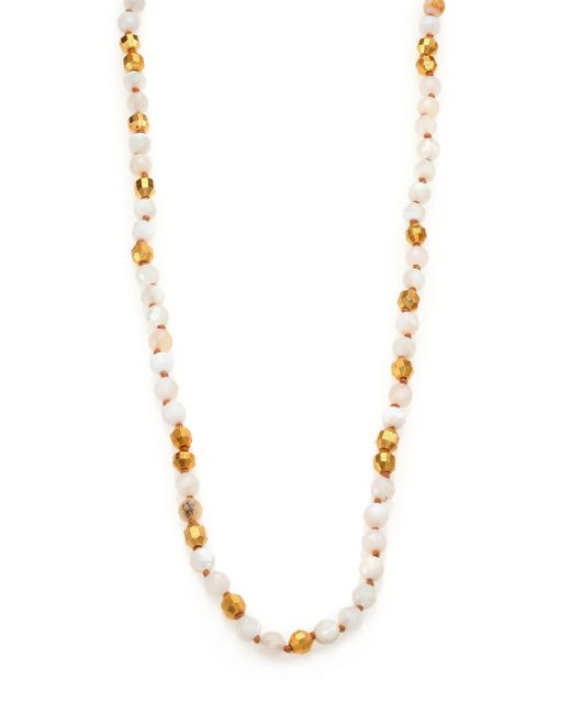 Chan Luu | Metallic Mother-of-pearl & Opal Long Beaded Strand Necklace | Lyst