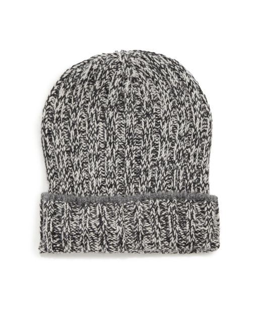 Brunello Cucinelli | Gray Cuffed Cashmere Ribbed Beanie for Men | Lyst