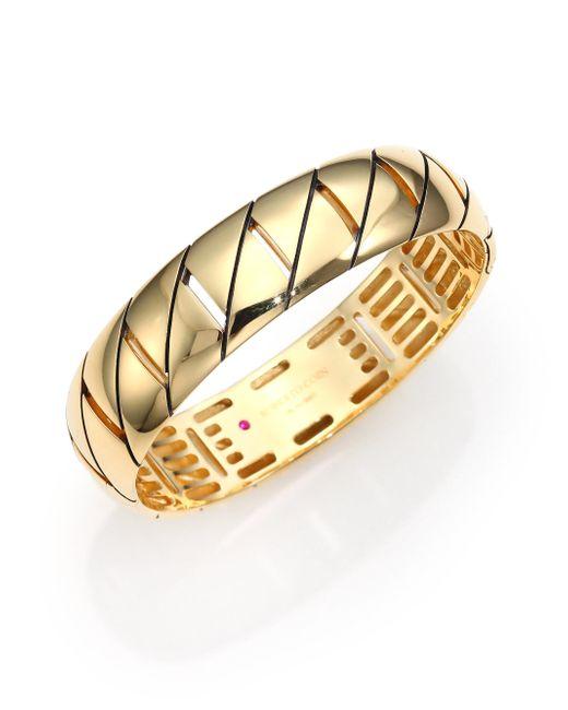 Roberto Coin | Metallic Appassionata 18k Yellow Gold Bangle Bracelet | Lyst
