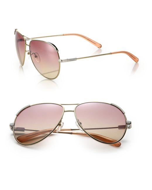 Chloé | Purple Eric 60mm Aviator Sunglasses | Lyst