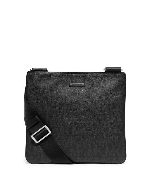 Michael Kors | Black Small Shadow Signature Flat Crossbody Bag for Men | Lyst