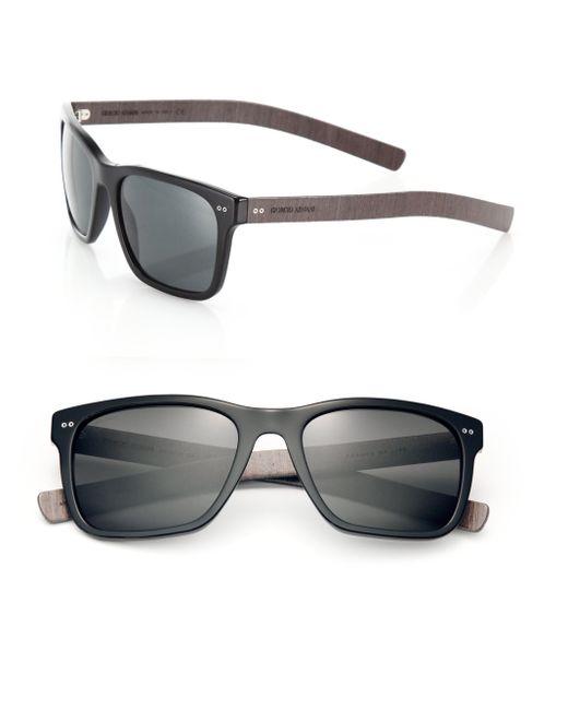 Giorgio Armani | Black 56mm Square Sunglasses for Men | Lyst