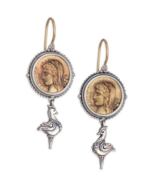 Konstantino | Metallic Kerma Bronze & Sterling Silver Coin Drop Earrings | Lyst