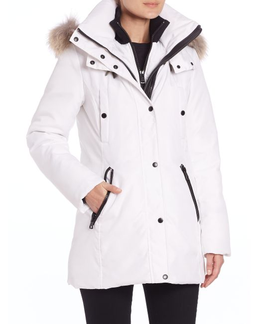 Andrew Marc | White Sydney Coyote Fur-trim Down Parka | Lyst