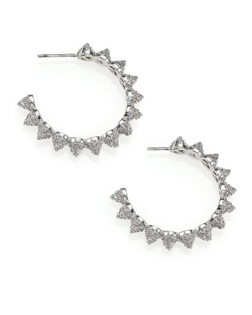 Eddie Borgo | Metallic Pave Crystal Cone Hoop Earrings/1.25 | Lyst