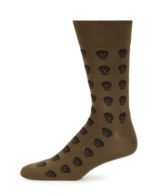 Alexander McQueen | Black Skull Print Socks for Men | Lyst