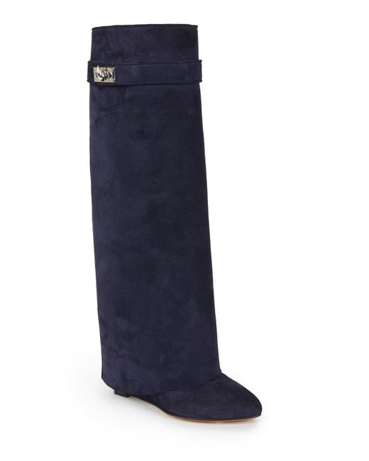 Givenchy | Blue Shark Line Knee Boots | Lyst