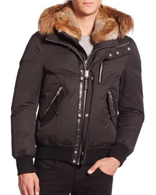 Mackage | Black Dixon Lux Fur-trim Down Bomber Jacket for Men | Lyst