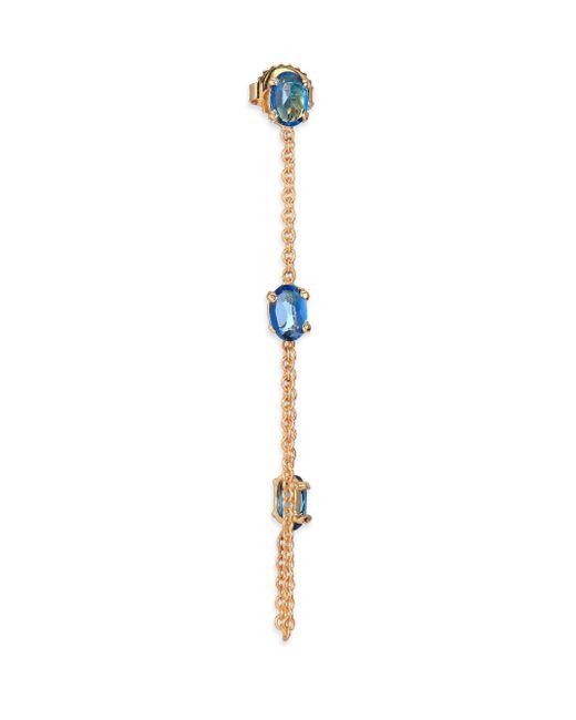 Jacquie Aiche | Multicolor Blue Topaz & 14k Yellow Gold Single Draped Chain Earring | Lyst
