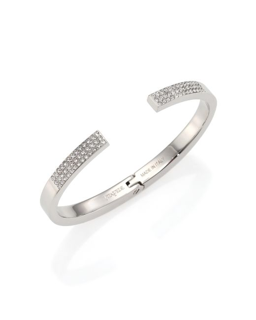 Vita Fede | Metallic Diviso Crystal Cuff Bracelet/silvertone | Lyst