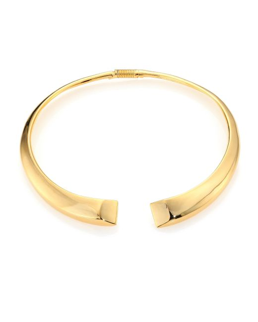 Kenneth Jay Lane   Metallic Open Collar Necklace   Lyst